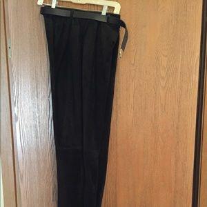 Nine West black suede pants size 6